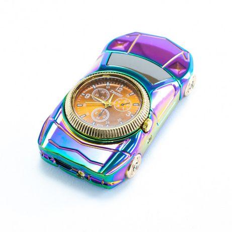 Спиральная зажигалка, электрозажигалка аккумуляторная USB-813 + часы