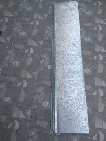 Отлив оконный оцинкованный (подоконник, отлив для окна) 126х25см