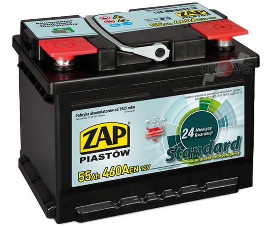 NOWY Akumulator 12V 55Ah 460A P+ Standard ZAP SZNAJDER 52Ah 53 54Ah 56