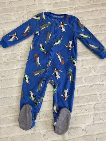 Флисовый слип, пижама oshkos на 2 года