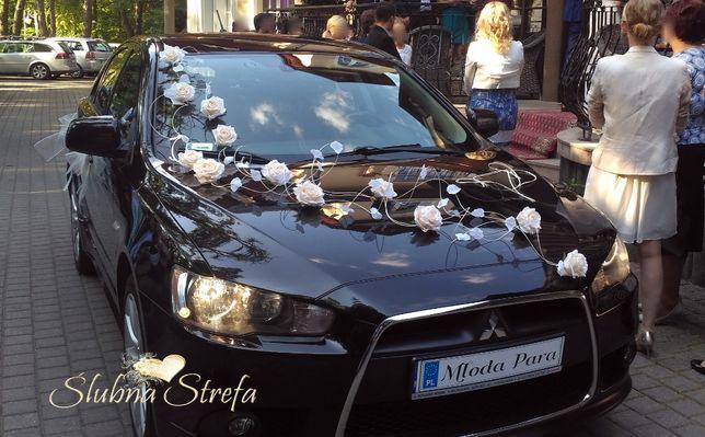 Dekoracja na samochód, ozdoba na samochó ślubny paczek