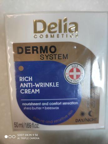 Krem przeciwzmarszczkowy, Delia, kolagen, kwas hialuronowy
