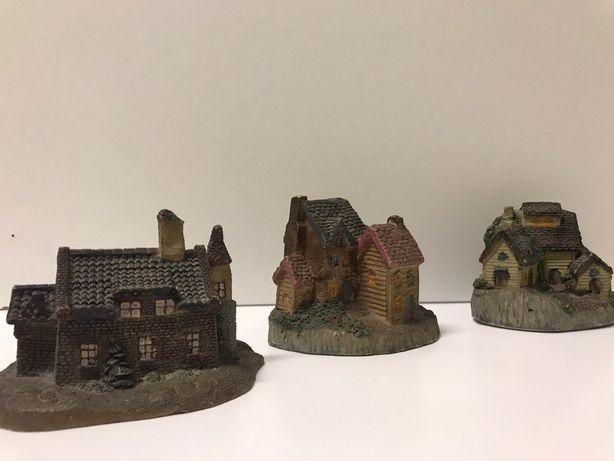 Conjunto de 3 casas decorativas