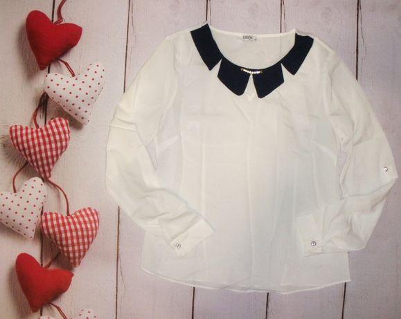 Шикарная новая блуза с оригинальным воротом !