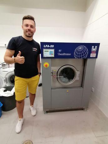 Lavandaria self service ou indústrial  máquinas de lavar e secar roupa