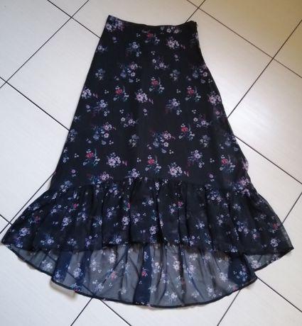 Mohito czarna asymetryczna spódnica midi XS / 34. Nowa - bez metki.