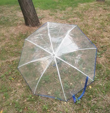 Зонт Прозрачный зонт трость Lantana, 8спиц, купол 104.