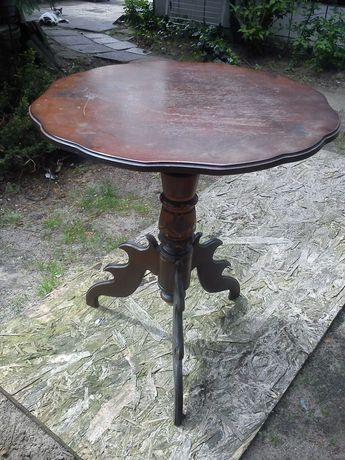 Stary drewniany stolik kawowy Retro