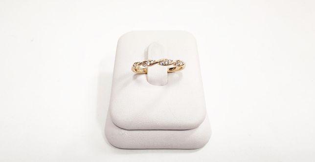 Nowy pozłacany pierścionek PP3162 R11