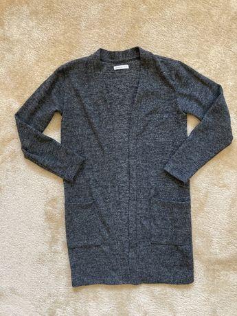 Sweter, długi kardigan szary Reserved 146 jak nowy