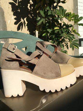 Sandalias tamanho 35, usadas uma vez