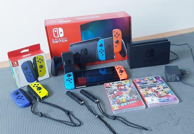 Konsola Nintendo Switch V2 +2gry