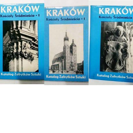 Kraków kościoły śródmieścia tom I-III