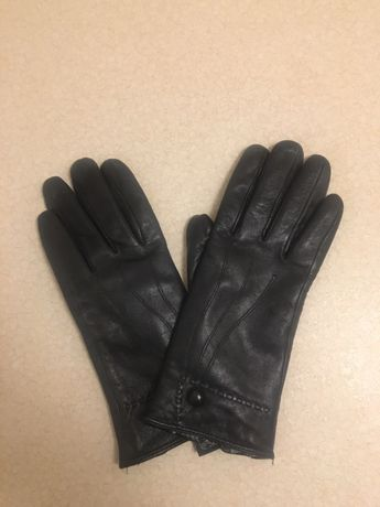 Rękawiczki zimowe, skóra eko. Nowe bez metki. Ocieplane. Rozmiar 6 1/2