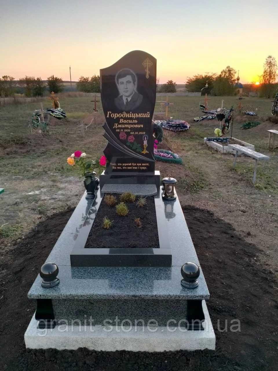Памятники гранитные Мариуполь Установка и благоустройство могил
