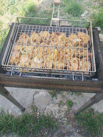 Решетка для гриля и барбекю из НЕРЖАВЕЙКИ.Сетка для гриля на мангал