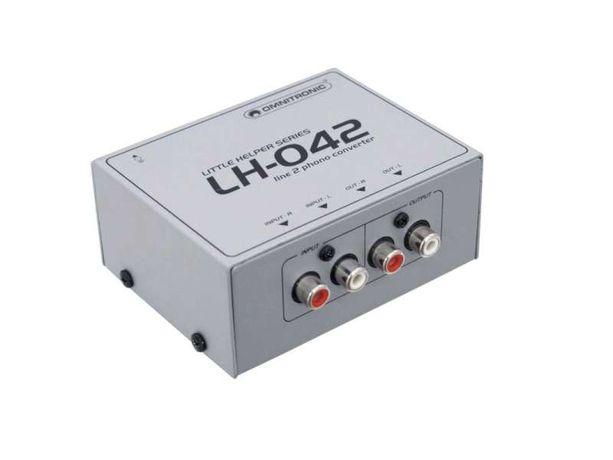 Konwerter liniowo-gramofonowy OMNITRONIC LH-042