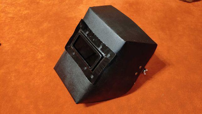 Сварочная маска, маска сварщика (электрокартон) с креплениями