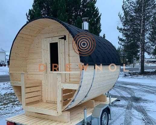 Sauna ogrodowa, sauna, sauna beczka, sauna Ebro, ruska bania