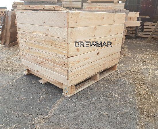 Skrzyniopalety Wierzchlas,opakowania drewniane skrzynie Drewmar,Łaszew