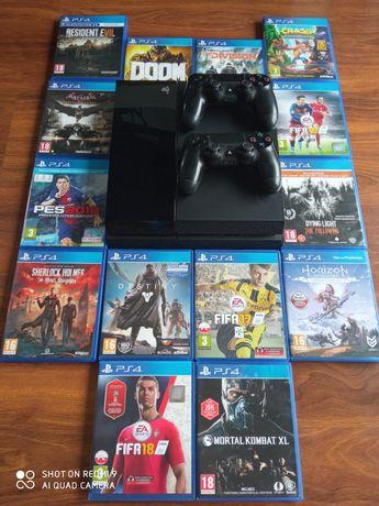 PlayStation 4 FAT 500gb *2pady *14gier *1 właściciel*okazja*polecam