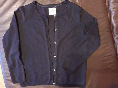 Sweter dziewczęcy Zara czarny elegancki rozm.140 9-10 lat