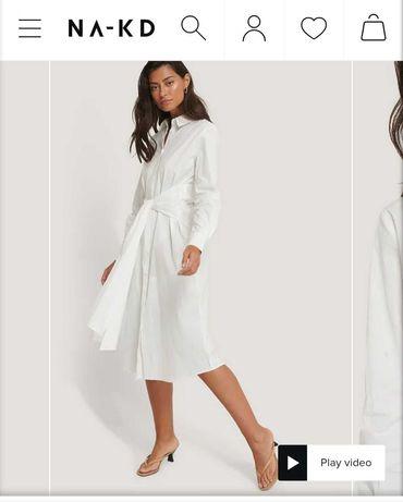 миди платье рубашка  плаття хлопковое  платье пояс завязка платье узел