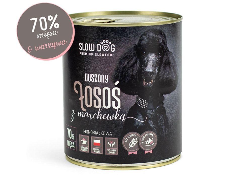 SLOW DOG - Karma mokra dla psa - Łosoś z marchewką - 70% mięsa Kraków - image 1