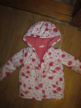 Курточка деми с маками на девочку 6-9 мес