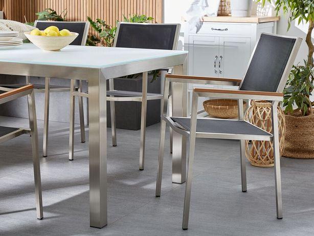 Conjunto de 2 cadeiras de jardim cinzentas GROSSETO - Beliani