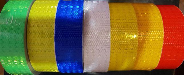 В наличии Светоотражающая самоклеющаяся лента 5см 50метров за рулон