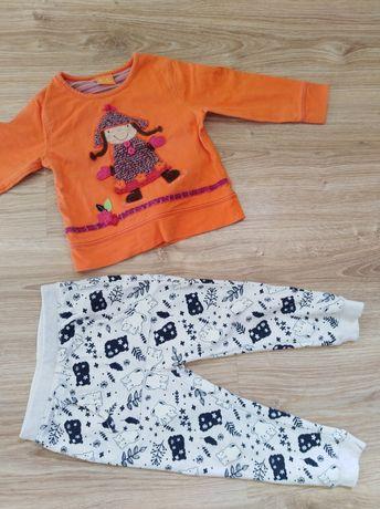 Zestaw dla dziewczynki spodnie dresowe i bluzka