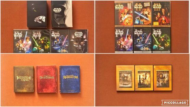 FILME SÉRIE DVD Guerra das Estrelas Senhor dos Anéis