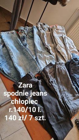 Zara jeans chłopiec r.140/10 l.
