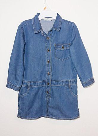 Джинсовое платье - туника