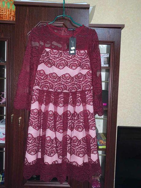 Плаття,сукня жіноча,кольору бордо,ажурне