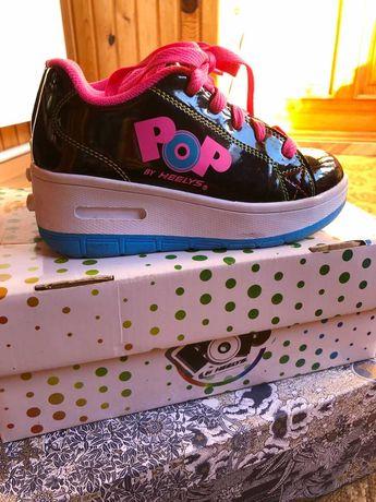 Роликовые кроссовки Heelys POP Wave (с кнопкой)  31 размер