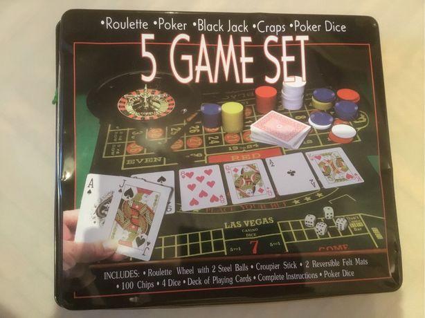 Настольные азартные игры рулетка покер и другие. Некомплект.