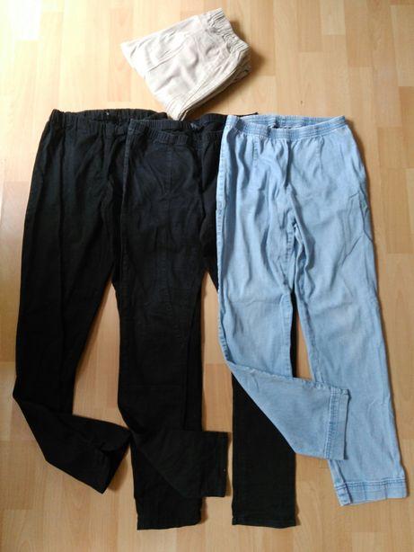 Okazja! 3x spodnie, jeansy, jegginsy, na gumce r.M + gratis!