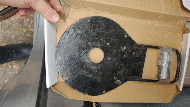 Переходная пластина лодочного мотора, гибрида Ветерок + втулка
