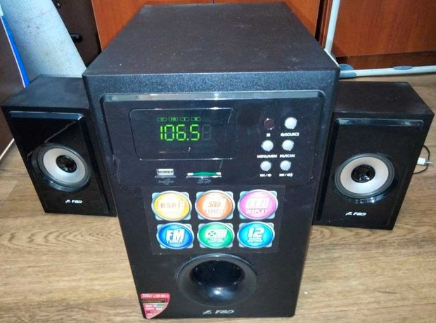 Акустическая система 2.1 F&D A555U радио флешка sd карта