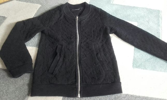 Ciepła bluza kurtka czarna 104-110