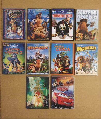 DVDs variados Disney e Dreamworks