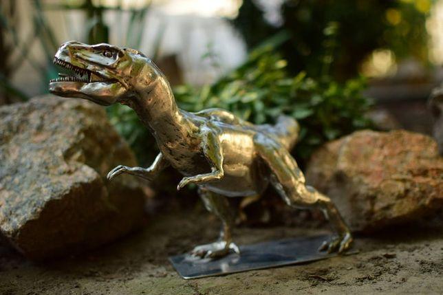 скульптура динозавра T REX из нержавеющей стали ручной работы