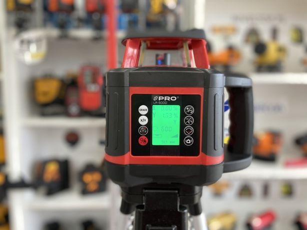 ZESTAW Niwelator laserowy PRO LR-500D Cyfrowe SPADKI Poziom Pion