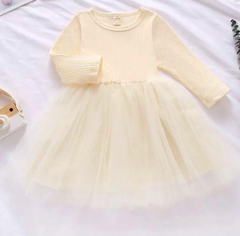 Платье на девочку с фатином