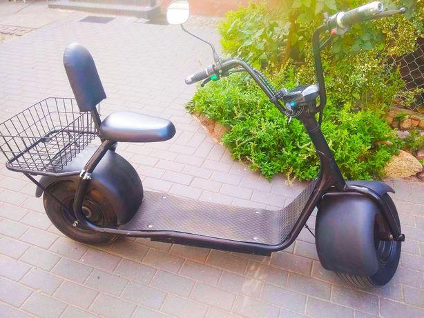 Hulajnoga elektryczna duża z siodłem rower motocykl motor
