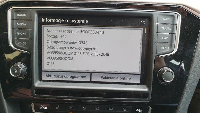 VW POLSKIE Menu USA Konwersja Arteon Passat B8 Golf 7 Tiguan Touareg