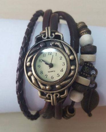 R025 R026 R027 R075 Relógio Quartz Bracelete Pele Retro Vintage cores