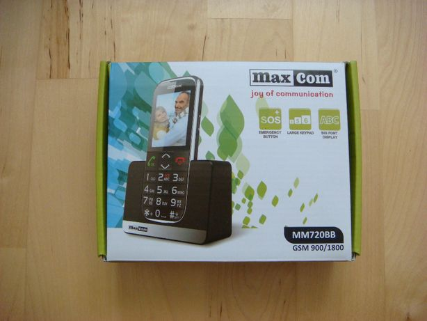 Nowy Telefon - MaxCom MM 720BB - czarny.